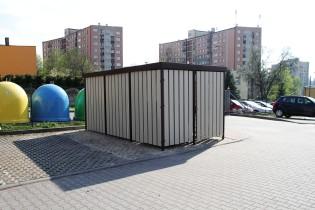 Boks śmietnikowy Modern, Chorzów ul. Wandy