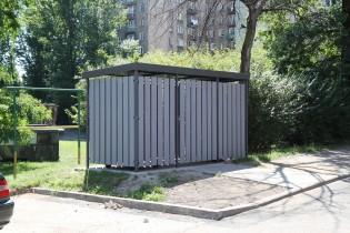 Osłona śmietnikowa, Modern, Chorzów ul. Lipińska